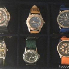Relojes: COLECCIÓN DE 6 RELOJES CUARZO. NUEVOS SIN USAR. EN SU ESTUCHE. EDICION LIMITADA.. Lote 213733668