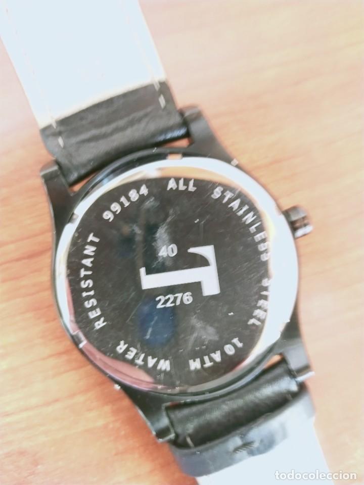 Relojes: Reloj caballero (Vintage) POTENS cuarzo, caja de acero pavonada negra, esfera negra, segundero seis. - Foto 9 - 213798435