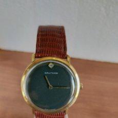 Relojes: RELOJ DE CABALLERO (VINTAGE) WALTHAM CHAPADO ORO, DE CUERDA SUIZO, 7 RUBIS ANTICHOC, CORREA CUERO.. Lote 213814607
