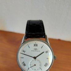 Relojes: RELOJ CABALLERO (VINTAGE) MOVADO DE CUERDA MANUAL EN ACERO CON 15 RUBÍS, CORREA DE CUERO NEGRA.. Lote 213893503