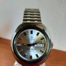 Relojes: RELOJ CABALLERO (VINTAGE) CLIPER AUTOMÁTICO, DOBLE CALENDARIO LAS TRES, ESFERA BLANCA, CORREA ACERO.. Lote 213898348