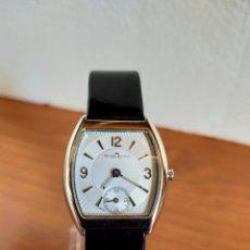 Relojes: RELOJ DE SEÑORA VAN DER BAUWEDE DE PLATA MAQUINA CUARZO, ESFERA BLANCA CON AGUJAS DE ACERO, CORREA. Lote 213899888