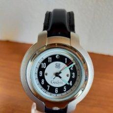 Relojes: RELOJ CABALLERO (VINTAGE) GUDYSS DE CUARZO EN ACERO, ESFERA BLANCA Y NEGRA CORREA ORIGINAL NEGRA.. Lote 213909253