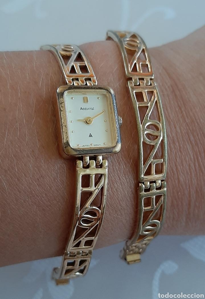 Relojes: Reloj y pulsera vintage set de mujer, Accurist LB 5631 CAL. 5R21 en caja original funcionado. 16 cm. - Foto 4 - 214262385
