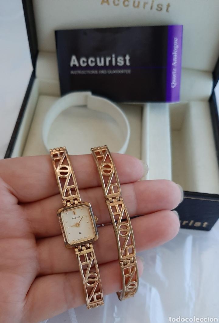 Relojes: Reloj y pulsera vintage set de mujer, Accurist LB 5631 CAL. 5R21 en caja original funcionado. 16 cm. - Foto 6 - 214262385