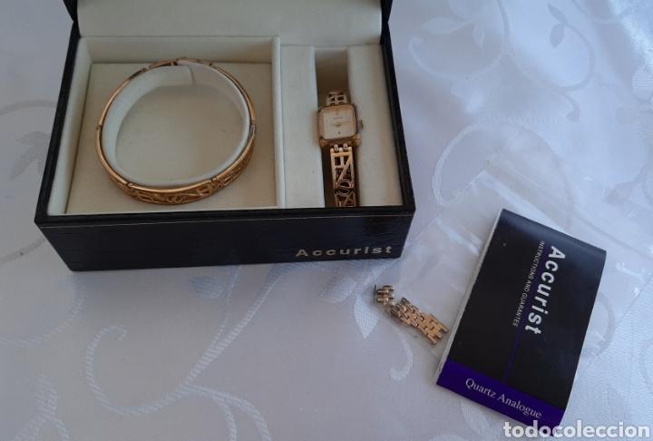 Relojes: Reloj y pulsera vintage set de mujer, Accurist LB 5631 CAL. 5R21 en caja original funcionado. 16 cm. - Foto 8 - 214262385