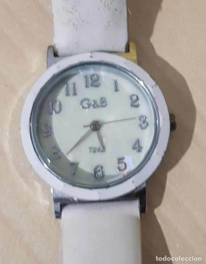 BONITO RELOJ DE MUJER, MARCA G & B TIME, COLOR BLANCO. (Relojes - Relojes Actuales - Otros)
