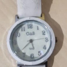 Relojes: BONITO RELOJ DE MUJER, MARCA G & B TIME, COLOR BLANCO.. Lote 215137491