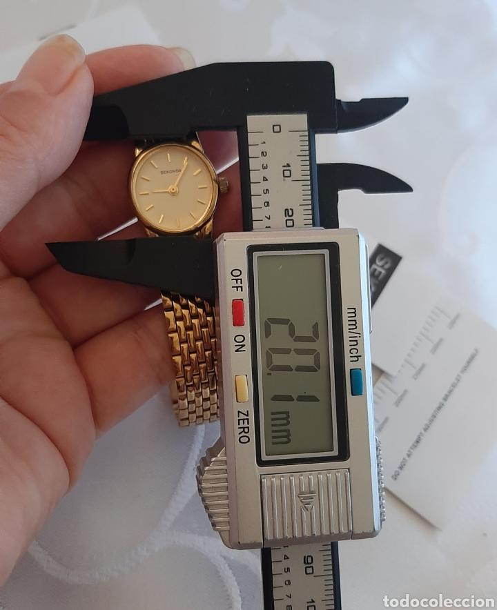 Relojes: Reloj vintage de mujer SEKONDA de Quartz. en caja original funcionado, color dorado. - Foto 5 - 215356046