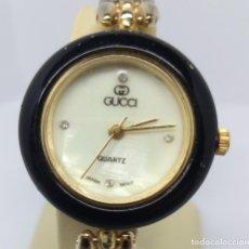 Relojes: ELEGANTE RELOJ GUCCI DE SEÑORA - CAJA 2'50 CM - FUNCIONANDO. Lote 216487178