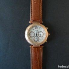 Relojes: RELOJ CORREA CUERO MARRON O POLIPIEL Y ACERO ORO ROSA. GIORGIE VALENTIAN. ESFERA BLANCA. SIGLO XXI. Lote 216504625