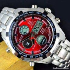 Relojes: RELOJ DUAL TIME ALARMA CRONOGRAFO NUEVO. Lote 216541258