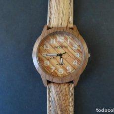 Relojes: RELOJ CORREA TIPO MADERA. MARCA EXACTIME. ESFERA MADERA. QUARTZ. SIGLO XXI. Lote 216669290