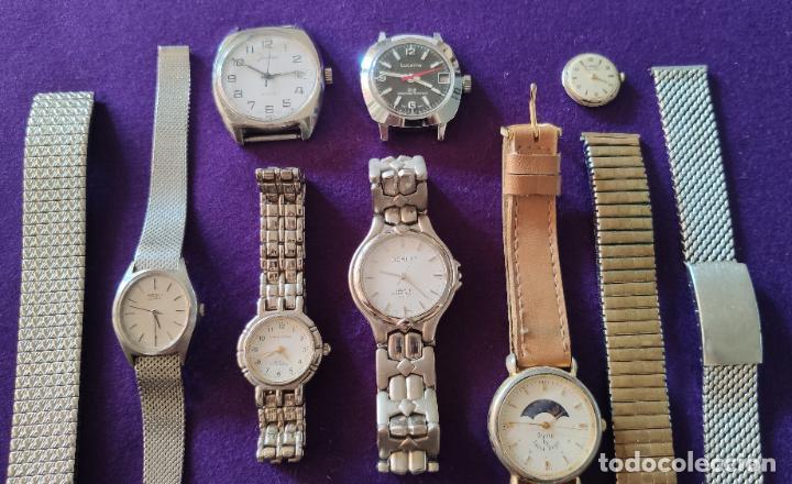Relojes: LOTE DE 10 RELOJES Y 3 ARMIS. MAYORIA QUARTZ, TAMBIEN MECANICOS. - Foto 4 - 216843415