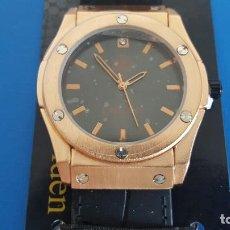 Relojes: RELOJ CALGARY GOLDEN MONTEROSSO BLACK, NUEVO A ESTRENAR. Lote 217047283