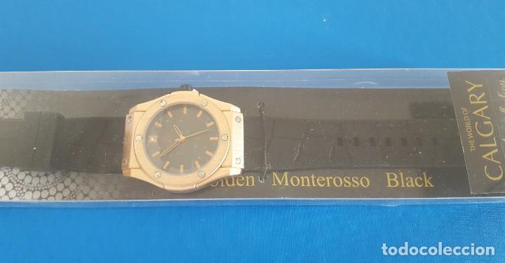 Relojes: RELOJ CALGARY GOLDEN MONTEROSSO BLACK, NUEVO A ESTRENAR - Foto 2 - 217047283