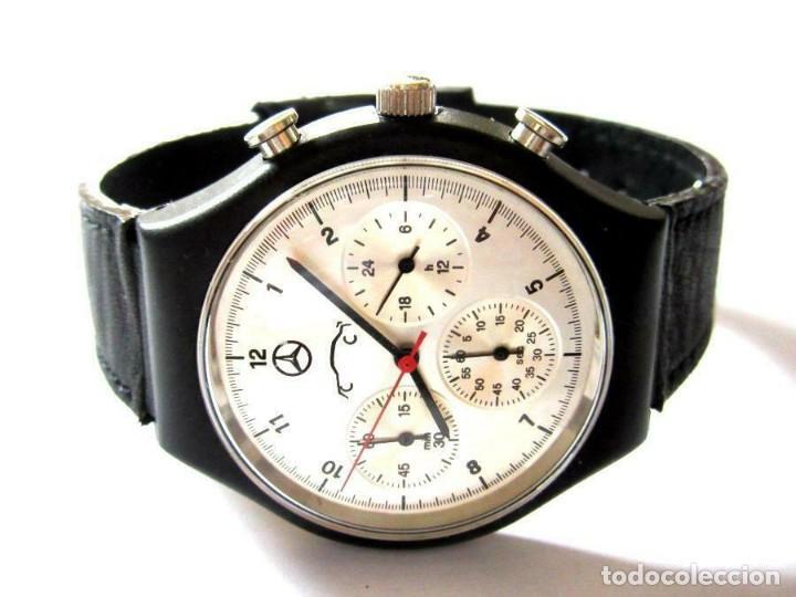 EXCLUSIVO RELOJ PULSERA CRONOGRAFO DISEÑADO POR MERCEDES VER FOTOS (Relojes - Relojes Actuales - Otros)