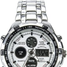 Relojes: RELOJ DUAL TIME CRONOGRAFO NUEVO. Lote 217632051
