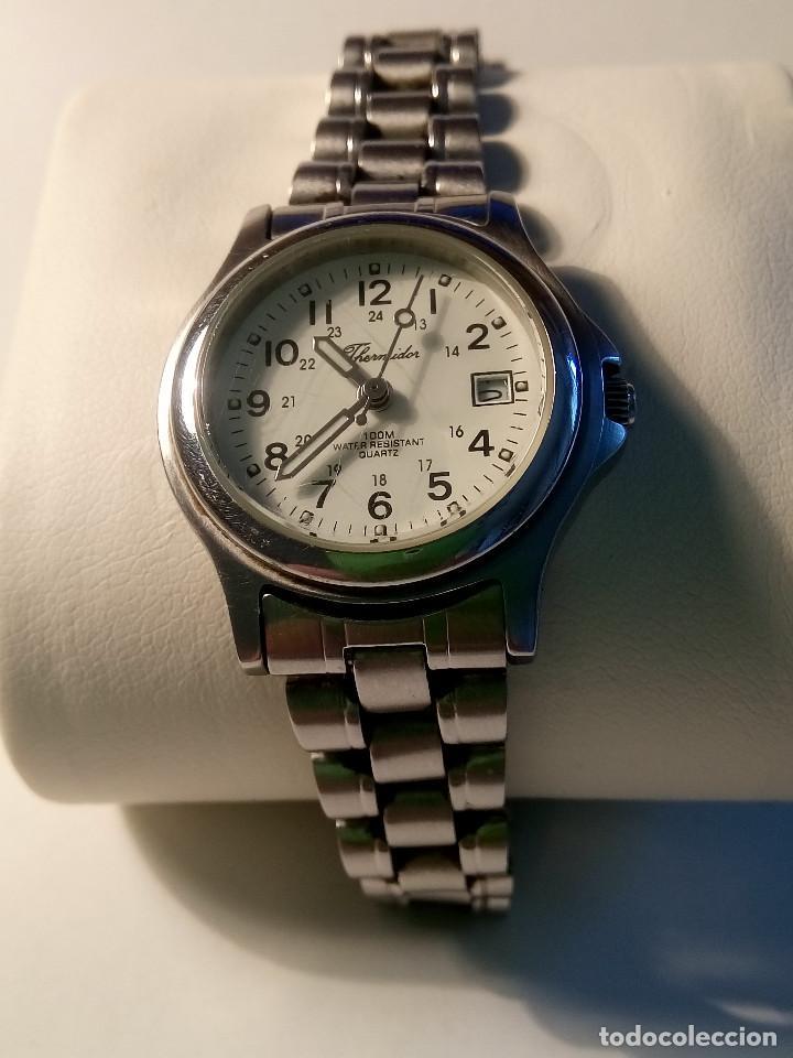 Relojes: RELOJ TERMIDOR - SEÑORA. PERFECTO. FUNCIONANDO. QUARTZ. BATERIA NUEVA. DESCRIPCION Y FOTOS. - Foto 2 - 217673241