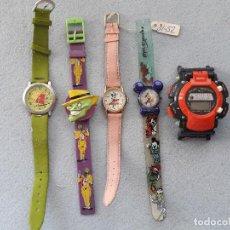 Relojes: LOTE DE 5 RELOJES INFANTILES DE CUARZO.. Lote 218085041