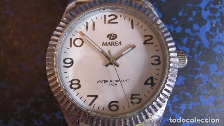 Relojes: RELOJ MAREA EN ACERO PULSERA ORIGINAL.FUNCIONANDO.PILA GASTADA. MUY BUEN ESTADO.DIAMETRO 39 MM - Foto 2 - 218188336