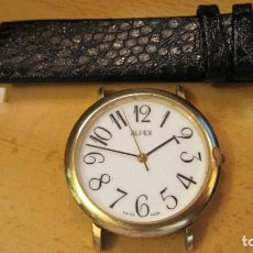 Relojes: RELOJ ALFEX SWISS.CHAPADO ORO FUNCIONANDO QUARTZ.DIAMETRO 36 MM.CORREA A ESTRENAR.MAQUINA SUIZA. Lote 218389240