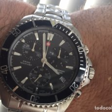 Relojes: RELOJ CRONOGRAFO SWISS MILITARY EN ACERO GRAN TAMAÑO. Lote 218710538