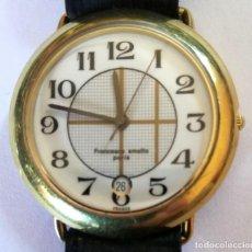Relojes: RELOJ FRANCESCO SMALTO-PARIS- CALENDARIO-CHAPADO ORO. Lote 218929933