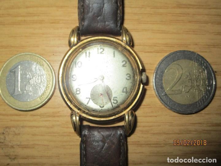 Relojes: MARCA HUMA RELOJ ANTIGUO PULSERA CABALLERO CHAPADO EN ORO CONTRASTE RARO FUNCIONANDO - Foto 20 - 128600183