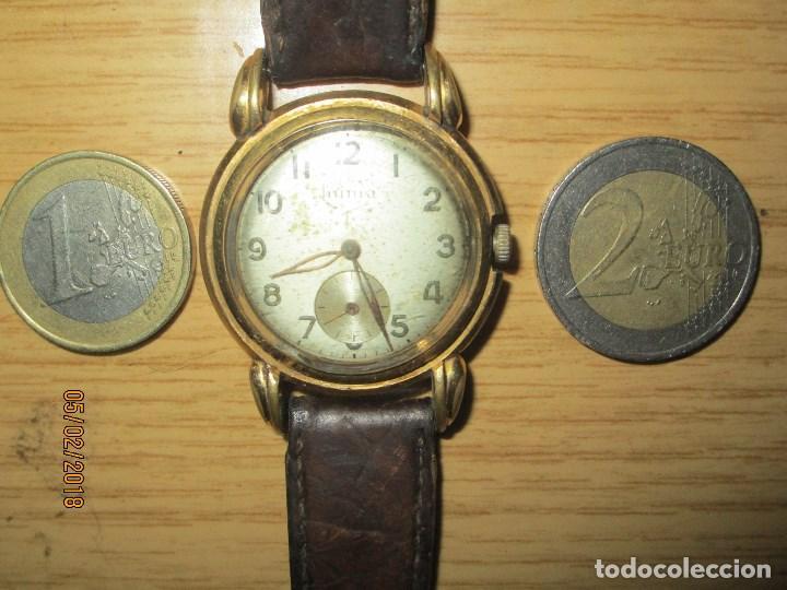 Relojes: MARCA HUMA RELOJ ANTIGUO PULSERA CABALLERO CHAPADO EN ORO CONTRASTE RARO FUNCIONANDO - Foto 2 - 128600183