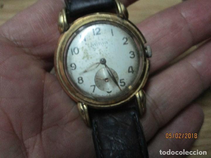 Relojes: MARCA HUMA RELOJ ANTIGUO PULSERA CABALLERO CHAPADO EN ORO CONTRASTE RARO FUNCIONANDO - Foto 22 - 128600183