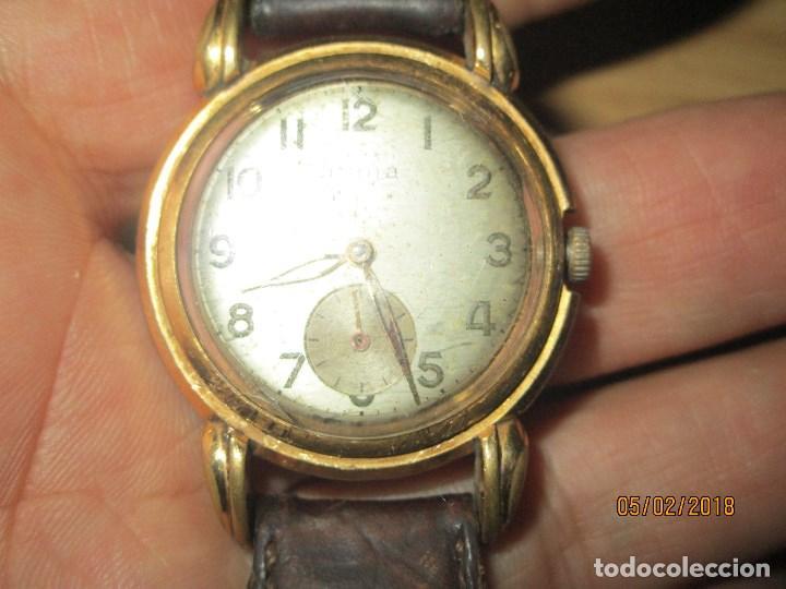 Relojes: MARCA HUMA RELOJ ANTIGUO PULSERA CABALLERO CHAPADO EN ORO CONTRASTE RARO FUNCIONANDO - Foto 23 - 128600183