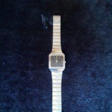 Relojes: RELOJ EN PLATEADO Y DORADO MARCA DUMONT . AÑOS 80.. Lote 219829122
