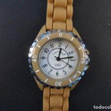 Relojes: RELOJ SEÑORA CORREA CAUCHO MARRON Y ACERO.GIORGIE VALENTIAN. ESFERA MARRON. SIGLO XXI. Lote 220517677