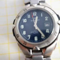 Relojes: RELOJ ACERO MATE ESFERA AZUL. RADIANT. WATER RESISTANT. CALENDARIO. QUARTZ.. Lote 222268222