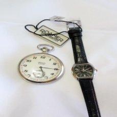 Relojes: RELOJ RUSO DE BOLSILLO NO FUNCIONA Y ROAMER NUEVO DE MUJER. Lote 222403757