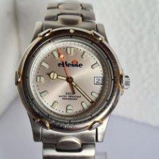 Relojes: RELOJ UNISEX (VINTAGE) CUARZO ELLESSE ACERO, CORREA DE ACERO 200 METROS ESFERA BLANCA CAJA CON BISEL. Lote 222466226