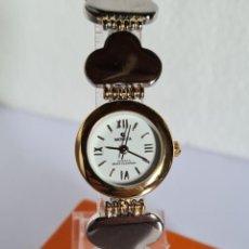 Relojes: RELOJ SEÑORA MORITA DE CUARZO EN ACERO Y ORO, ESFERA BLANCA CON CORREA ORIGINAL ACERO BICOLOR.. Lote 222599057