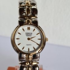 Relojes: RELOJ SEÑORA REDONDO DE CUARZO ORIENT ACERO BICOLOR CON CORREA ORIGINAL ACERO, RELOJ NUEVO DE STOCK.. Lote 222699313
