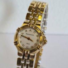 Relojes: RELOJ SEÑORA DE CUARZO MAURICE LACROIX CHAPADO DE ORO CON CORREA CHAPADA DE ORO ORIGINAL.. Lote 222706632