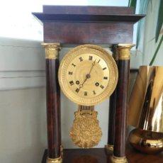 Relojes: GRAN RELOJ DE PÓRTICO EN MADERA DE CAOBA. Lote 223797341