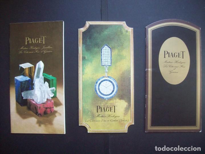 TRES CATALOGOS RELOJES PIAGET. AÑOS 70. INCLUYE LISTA DE PRECIOS DE LA EPOCA (Relojes - Relojes Actuales - Otros)