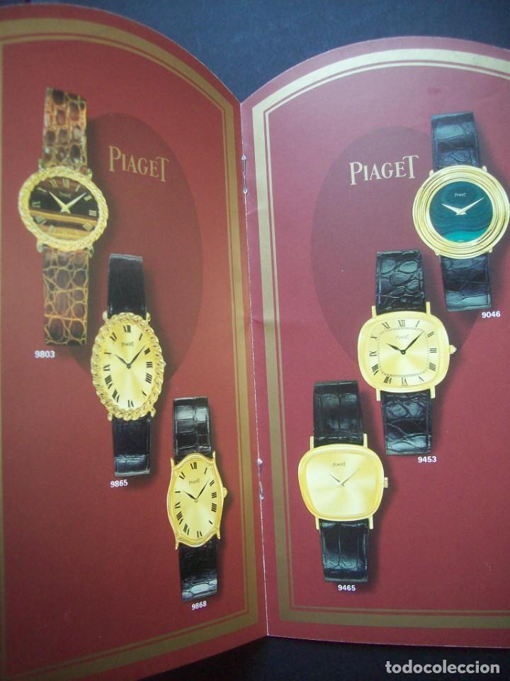 Relojes: TRES CATALOGOS RELOJES PIAGET. AÑOS 70. INCLUYE LISTA DE PRECIOS DE LA EPOCA - Foto 2 - 224216810