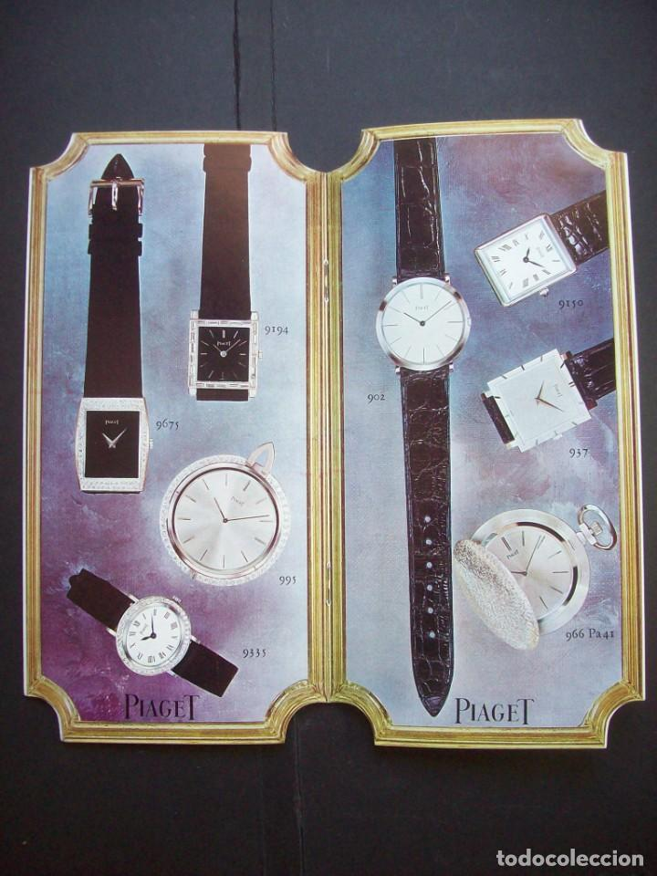 Relojes: TRES CATALOGOS RELOJES PIAGET. AÑOS 70. INCLUYE LISTA DE PRECIOS DE LA EPOCA - Foto 6 - 224216810