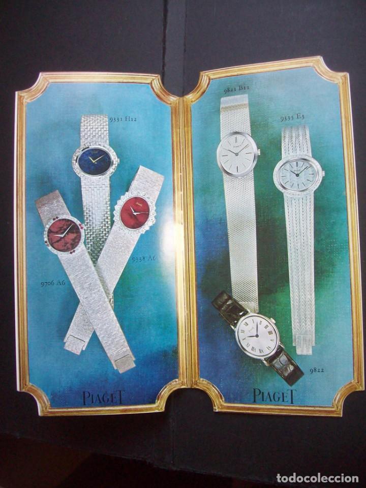 Relojes: TRES CATALOGOS RELOJES PIAGET. AÑOS 70. INCLUYE LISTA DE PRECIOS DE LA EPOCA - Foto 8 - 224216810
