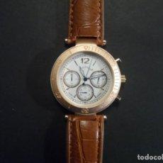 Relojes: RELOJ CORREA CUERO MARRON O POLIPIEL Y ACERO ORO ROSA. GIORGIE VALENTIAN. ESFERA BLANCA. SIGLO XXI. Lote 224632531