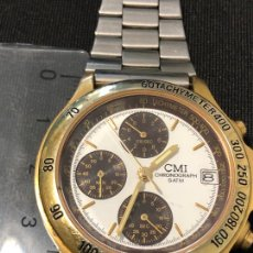 Relojes: RELOJ BIMETALICO CRONOGRAFO CMI CON BATERIA NUEVA. VER FOTOS. Lote 224717615