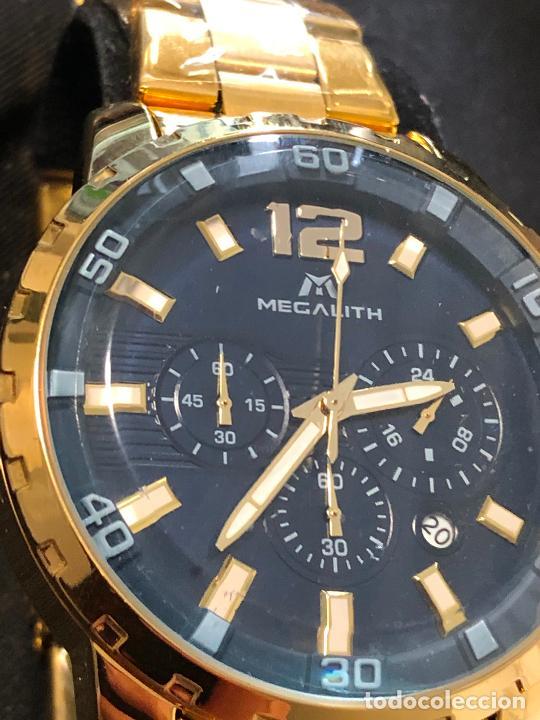BONITO RELOJ MEGATLITH CABALLEROS TIPO CRONOGRAFO METÁLICO EN FUNCIONAMIENTO NUEVO. VER FOTOS (Relojes - Relojes Actuales - Otros)