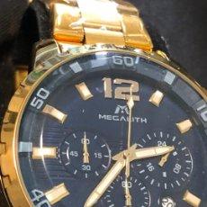 Relojes: BONITO RELOJ MEGATLITH CABALLEROS TIPO CRONOGRAFO METÁLICO EN FUNCIONAMIENTO NUEVO. VER FOTOS. Lote 224914945