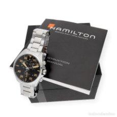 Relojes: HAMILTON KHAKI PILOT RELOJ DE HOMBRE CON ESTUCHE Y DOCUMENTACIÓN. Lote 225486625